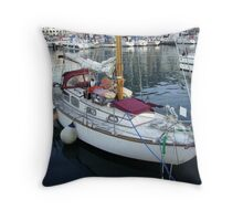 Ships Cat Patrici on Guard Throw Pillow
