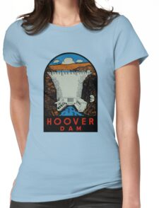 Hoover Dam Vintage Travel Decal Womens Fitted T-Shirt