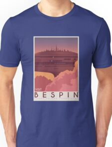 Bespin poster. Starwars retro travel. Cloud city. Illustration Unisex T-Shirt