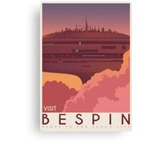Bespin poster. Starwars retro travel. Cloud city. Illustration Canvas Print