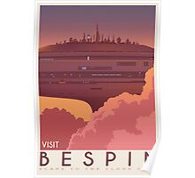 Bespin poster. Starwars retro travel. Cloud city. Illustration Poster