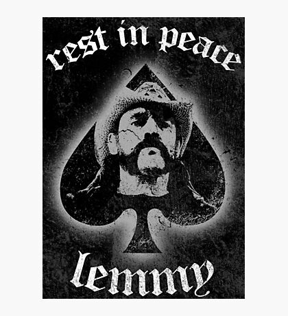 Rip Lemmy 01 Photographic Print