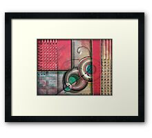 Permanently Set - Mixed Media Painting Framed Print