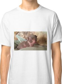 baby bicolor sphynx cat Classic T-Shirt