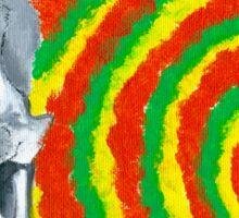 reggae skull Sticker