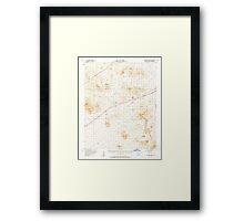 USGS TOPO Map California CA Halloran Spring 297631 1956 62500 geo Framed Print