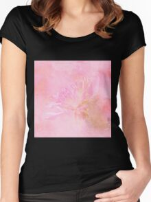 The Best Things In Life Are Unseen - Flower Art Women's Fitted Scoop T-Shirt