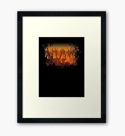 SciFi on an Orange Planet Framed Print