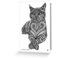 Zentangle Cat Greeting Card