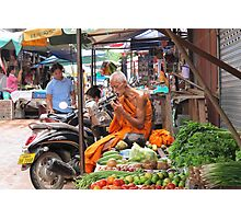 At the Morning Market  Photographic Print