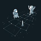 Hopscotch Astronauts by qetza