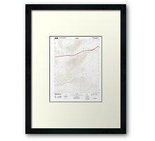 USGS TOPO Map California CA Cave Mountain 20120312 TM geo Framed Print