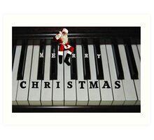 ❀◕‿◕❀ SANTAS RIGHT ON KEY HO HO HO MERRY CHRISTMAS ❀◕‿◕❀ Art Print