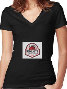 ATLANTA NOSNIMO Women's Fitted V-Neck T-Shirt