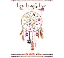 Dreamcatcher boho live laugh love Photographic Print