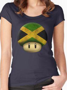 Jamaica Mario's mushroom Women's Fitted Scoop T-Shirt