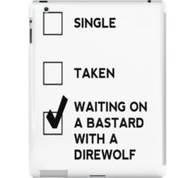 Game of Thrones - With A Direwolf iPad Case/Skin