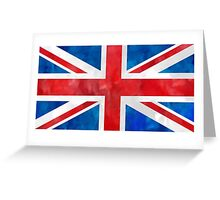 Union Jack Watercolor art Greeting Card