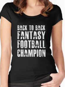 Back To Back Fantasy Football Champion Women's Fitted Scoop T-Shirt
