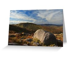 Towards Lavaghmore From Croaghgorm Greeting Card