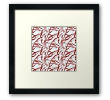 Nature Ribbons in Red Framed Print