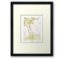 USGS TOPO Map California CA Grasshopper Valley 297601 1954 62500 geo Framed Print