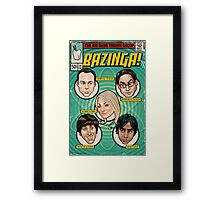 BAZINGA! Comic book Cover Poster Framed Print