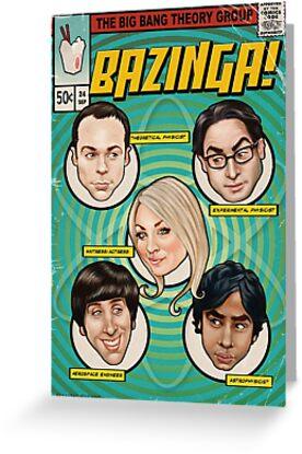 BAZINGA! Comic book Cover Poster by Amanda Clegg