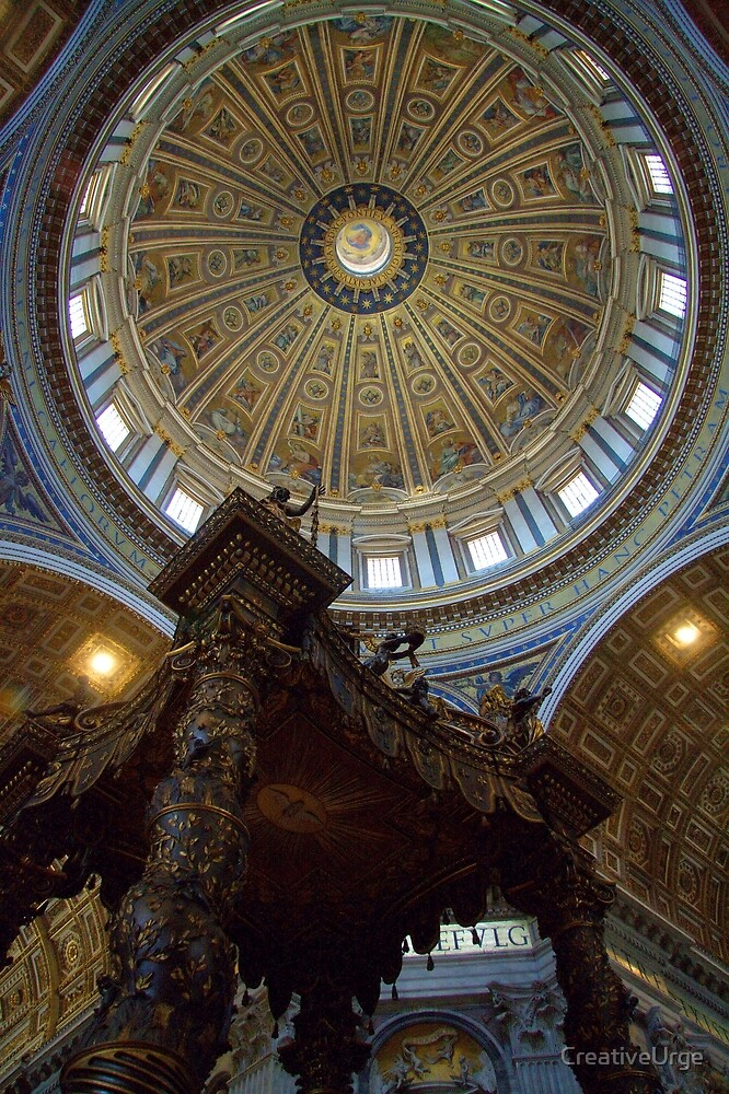 Cupola and Bernini's Baldacchino by CreativeUrge