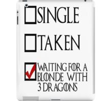 Game of Thrones - With 3 Dragons  iPad Case/Skin