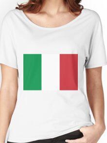Italian Flag Women's Relaxed Fit T-Shirt