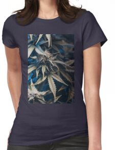 Weed indica sativa cannabis design floral hemp marijuana Womens Fitted T-Shirt