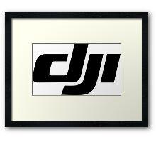 DJI simple Logo black Framed Print