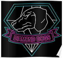 °METAL GEAR SOLID° Diamond Dogs Neon Poster