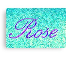 writing rose on wall Canvas Print