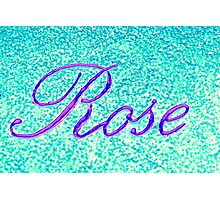 writing rose on wall Photographic Print