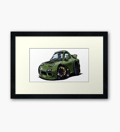 Mazda RX7-Front Framed Print