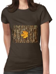 Fall Maple Leaf Womens Fitted T-Shirt