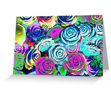 abstract colored roses stones Greeting Card