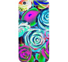 abstract colored roses stones iPhone Case/Skin