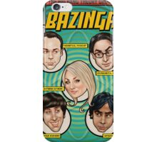 BAZINGA! Comic book Cover Poster iPhone Case/Skin