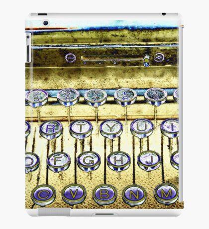 abstract detail of an old typewriter iPad Case/Skin