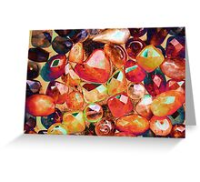 abstract colored stones Greeting Card
