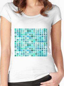 Abstract art abstract desiges Women's Fitted Scoop T-Shirt