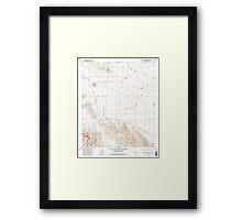 USGS TOPO Map California CA Borrego Mountain SE 100439 1958 24000 geo Framed Print