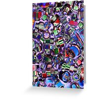 abstract old screw Greeting Card