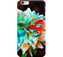 abstract dahlia iPhone Case/Skin