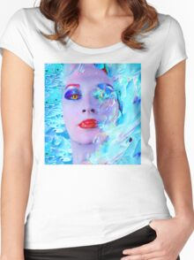 Swimming into the Blue Women's Fitted Scoop T-Shirt