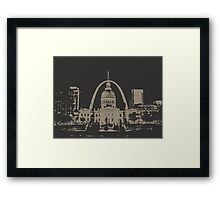 St. Louis Two-Tone Framed Print