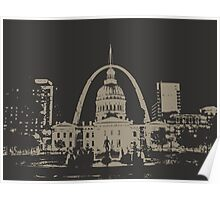 St. Louis Two-Tone Poster
